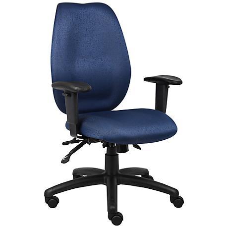 Boss Blue High Back Adjustable Task Chair