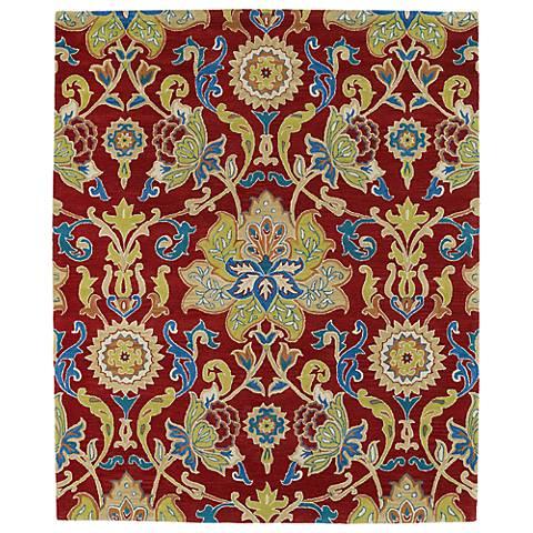 Kaleen Taj TAJ02-25 Red Wool Area Rug