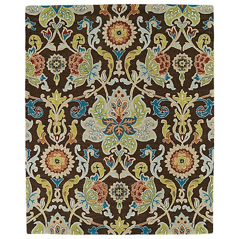 Kaleen Taj TAJ02-40 Chocolate Wool Area Rug