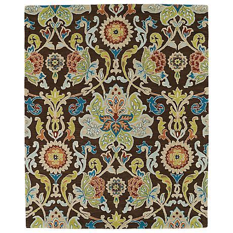 Kaleen Taj TAJ02-40 Chocolate Wool Area Rug