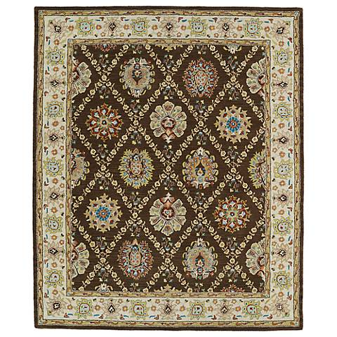Kaleen Taj TAJ03-40 Chocolate Wool Area Rug