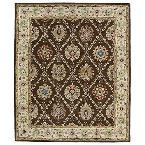 Kaleen Taj TAJ03-40 Chocolate Wool Area Rug