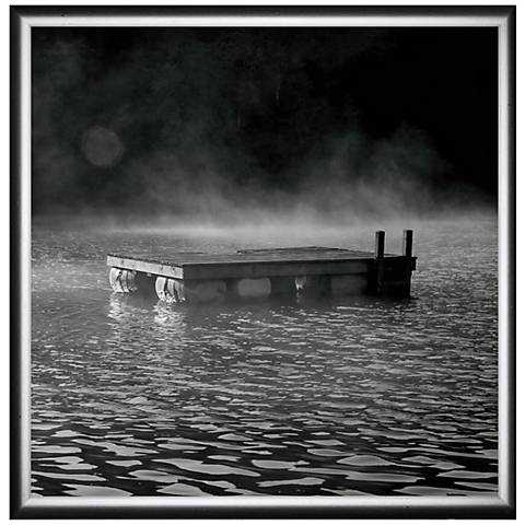 """Alone in the Morning 24"""" Square Framed Canvas Wall Art"""