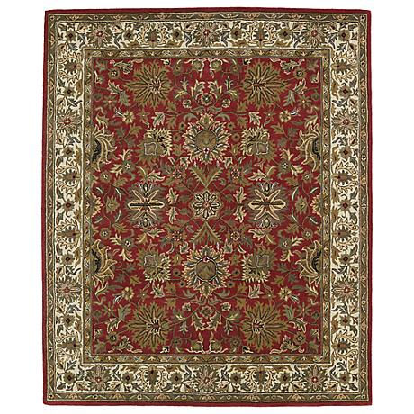 Kaleen Taj TAJ05-25 Red Wool Area Rug