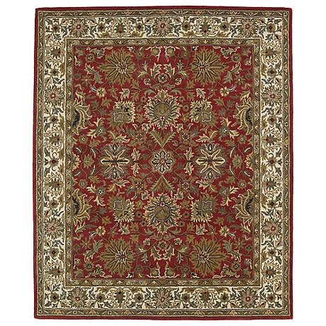 Kaleen Taj TAJ05-25 Red Wool Area Rug