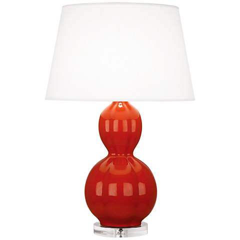 Randolph Red Ceramic Table Lamp