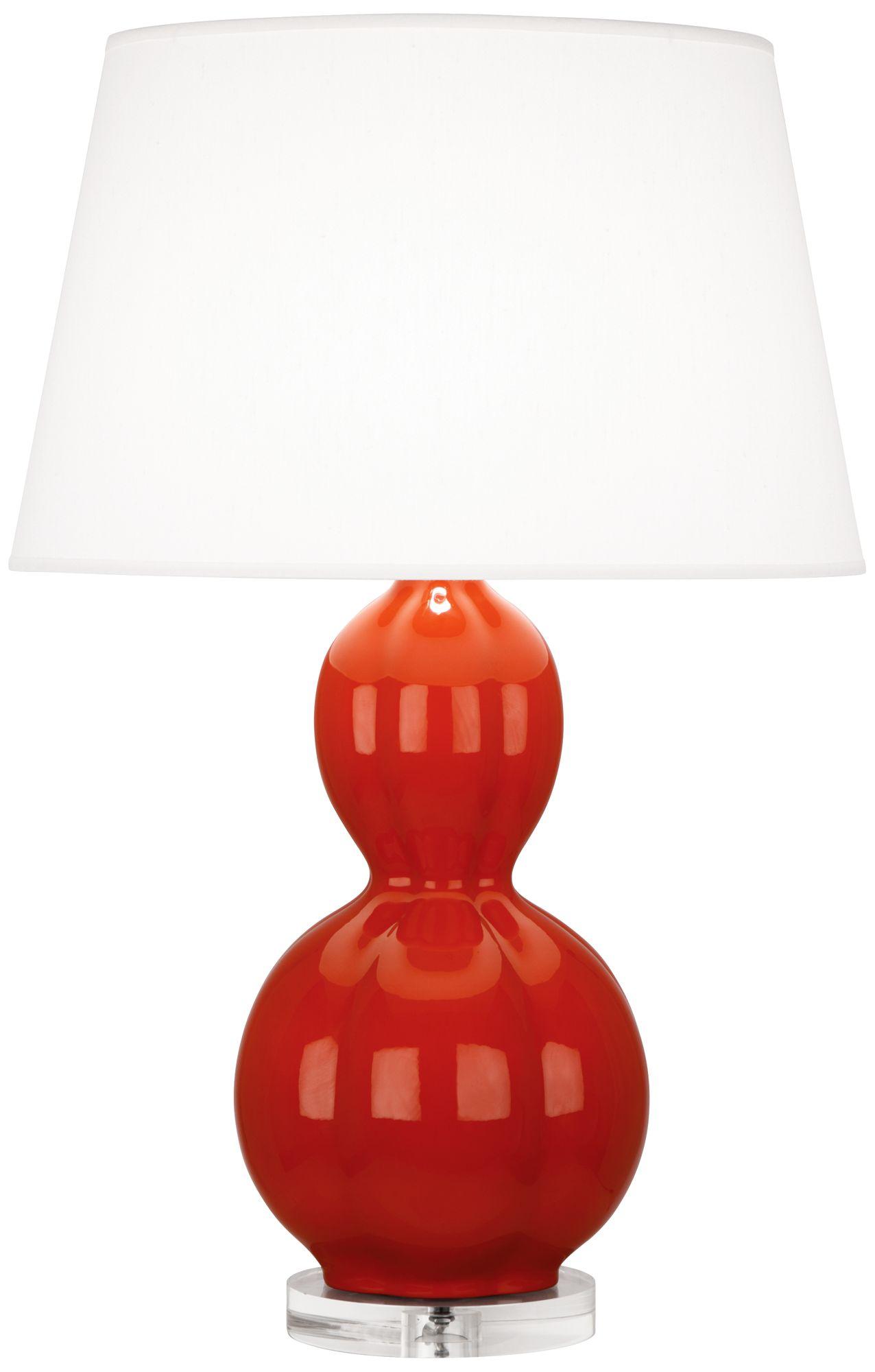 Randolph Red Ceramic Table Lamp