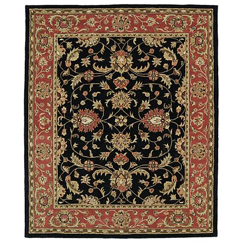 Kaleen Taj TAJ08-02 Black Wool Area Rug