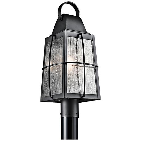 "Kichler Tolerand Seedy 21 3/4""H  Black Outdoor Post Light"
