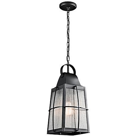 "Kichler Tolerand  21 3/4""H  Black Outdoor Hanging Light"