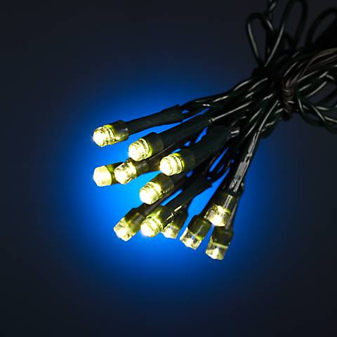 Warm White 17' Battery Operated Timer LED String Lights