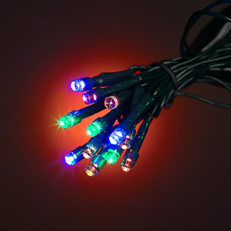 "Multicolor 33'4"" Battery Operated Timer LED String Lights"