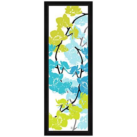"""Blue and Green Arrangement II 36"""" High Canvas Wall Art"""