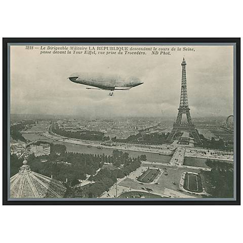"Eiffel Tower Postcard II 36"" Wide Framed Canvas Wall Art"