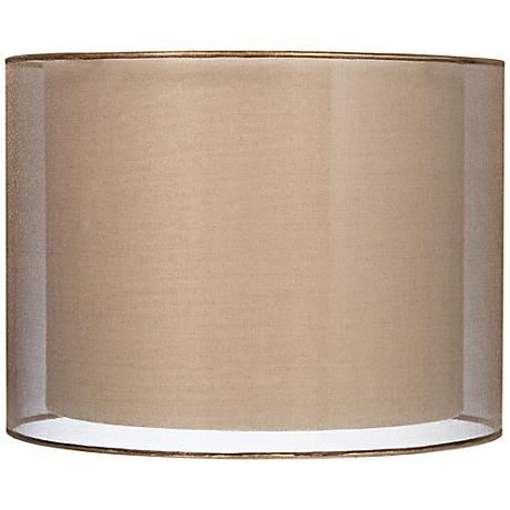 Sheer Bronze Double Lamp Shade 12x12x9 (Spider)