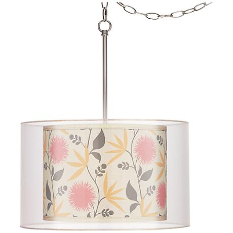 Seedling by thomaspaul Dahlia Pink Double Shade Swag Pendant