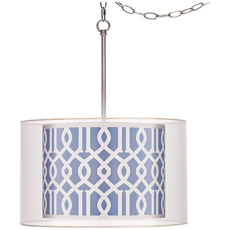 "Chain Reaction Double Shade 18"" Wide Swag Pendant"