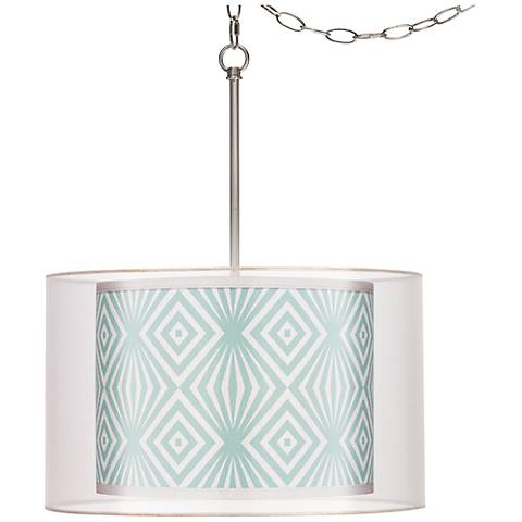 "Deco Revival Double Shade 18"" Wide Giclee Glow Swag Pendant"