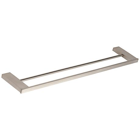 "Parker Brushed Nickel 23 1/2"" Double Towel Bar"