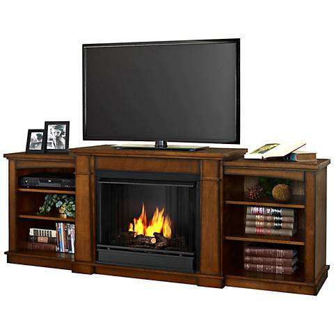 Real Flame Hawthorne Oak Entertainment Gel Fireplace