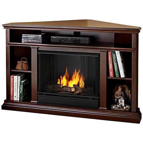 Real Flame Churchill Dark Espresso Corner Gel Fireplace