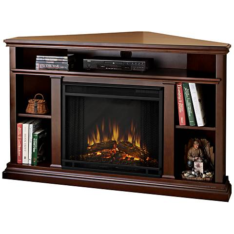 Real Flame Churchill Espresso Corner Electric Fireplace