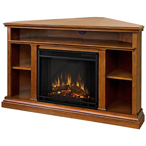 Real Flame Churchill Oak Corner Electric Fireplace