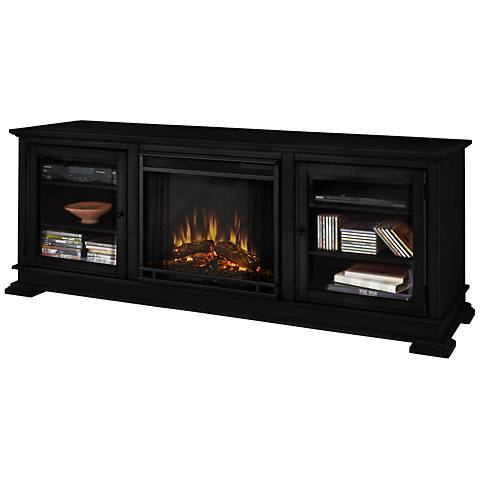 Real Flame Hudson Black Entertainment Electric Fireplace