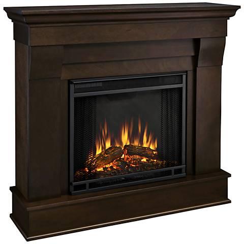 Real Flame Chateau Dark Walnut Mantel Electric Fireplace
