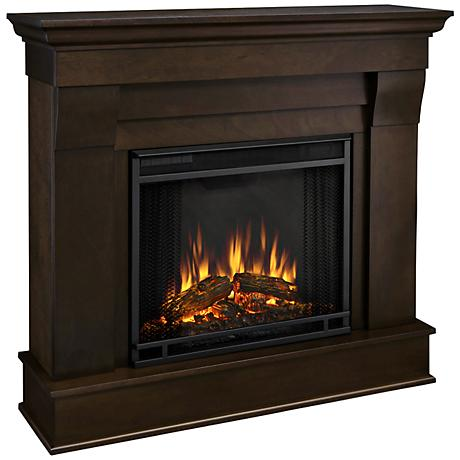 Real Flame Chateau Dark Walnut Mantel Electric Fireplace