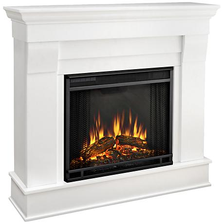 Real Flame Chateau White Mantel Electric Fireplace