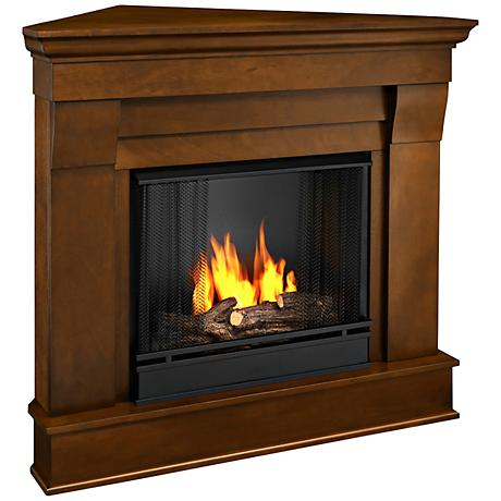 Real Flame Chateau Espresso Mantel Corner Gel Fireplace