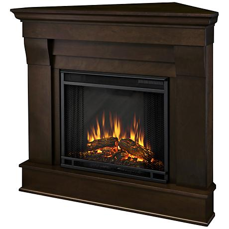 Real Flame Chateau Dark Walnut Corner Electric Fireplace