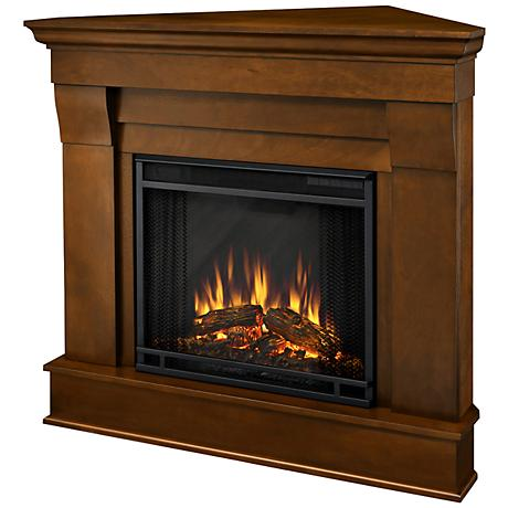 Real Flame Chateau Espresso Corner Electric Fireplace