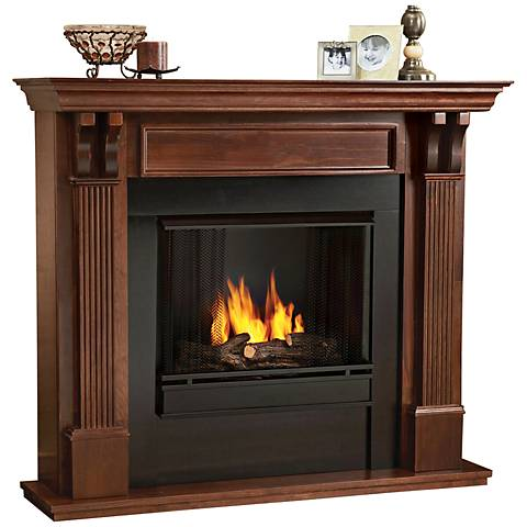 Real Flame Ashley Mahogany Mantel Gel Fireplace