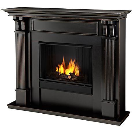 Real Flame Ashley Blackwash Mantel Gel Fireplace