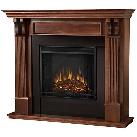 Real Flame Ashley Mahogany Mantel Electric Fireplace