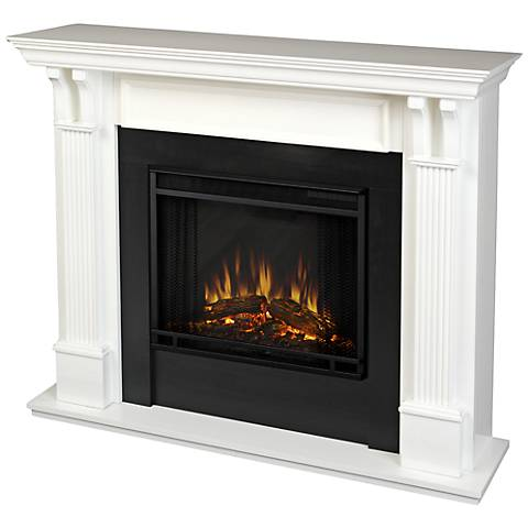 Real Flame Ashley White Mantel Electric Fireplace