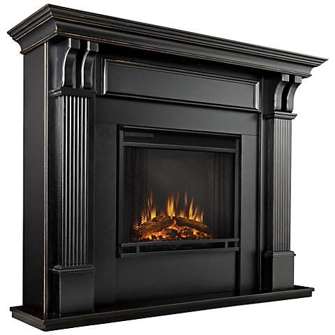 Real Flame Ashley Blackwash Mantel Electric Fireplace
