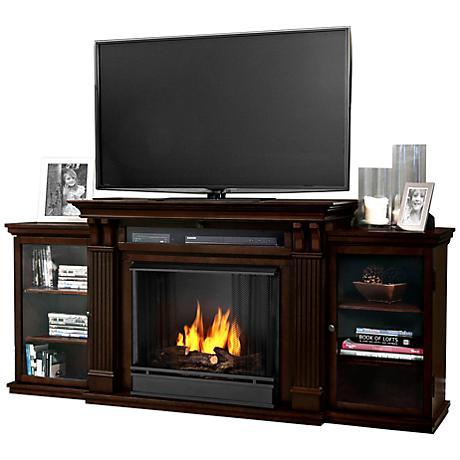 Real Flame Calie Dark Walnut Entertainment Gel Fireplace