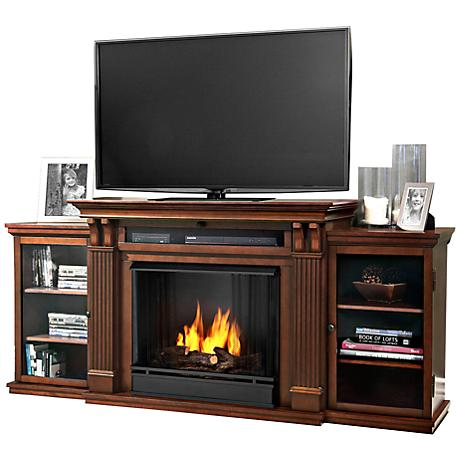 Real Flame Calie Espresso Entertainment Gel Fireplace