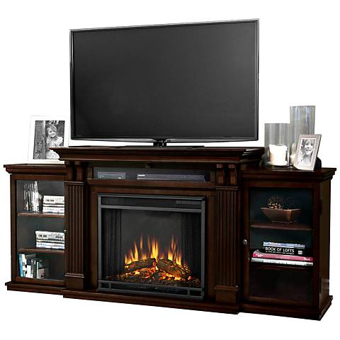 Real Flame Calie Walnut Entertainment Electric Fireplace