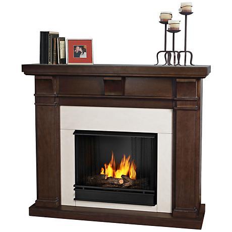 Real Flame Porter Vintage Black Maple Gel Fireplace