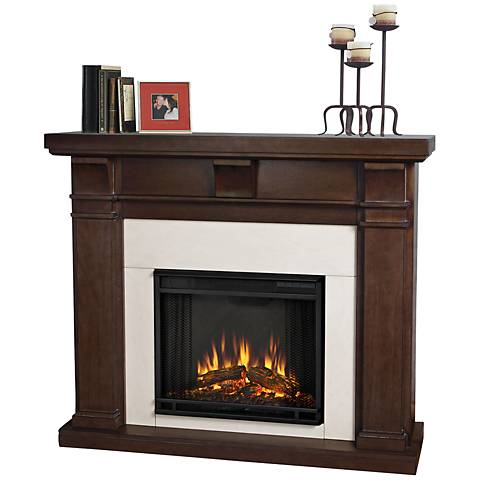 Real Flame Porter Vintage Black Maple Electric Fireplace