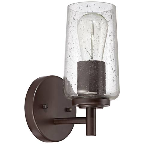 """Quoizel Edison 4"""" Wide Western Bronze Wall Sconce"""