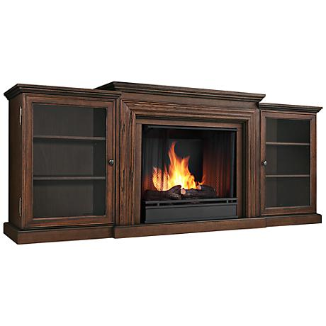 Real Flame Frederick Oak Entertainment Gel Fireplace
