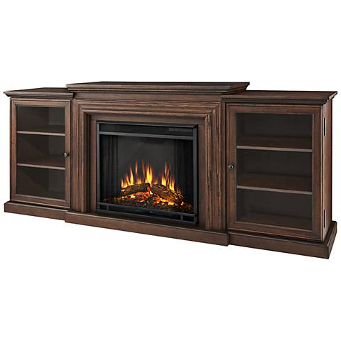 Real Flame Frederick Oak Entertainment Electric Fireplace