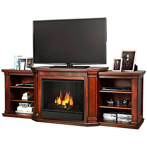 Real Flame Valmont Mahogany Entertainment Gel Fireplace