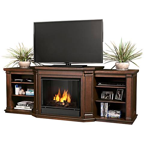 Real Flame Valmont Oak Entertainment Gel Fireplace