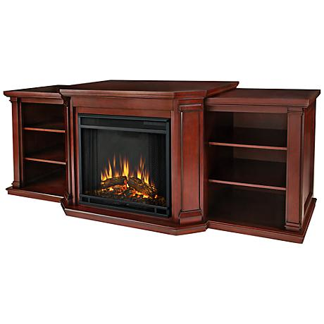 Real Flame Valmont Dark Mahogany Electric Fireplace